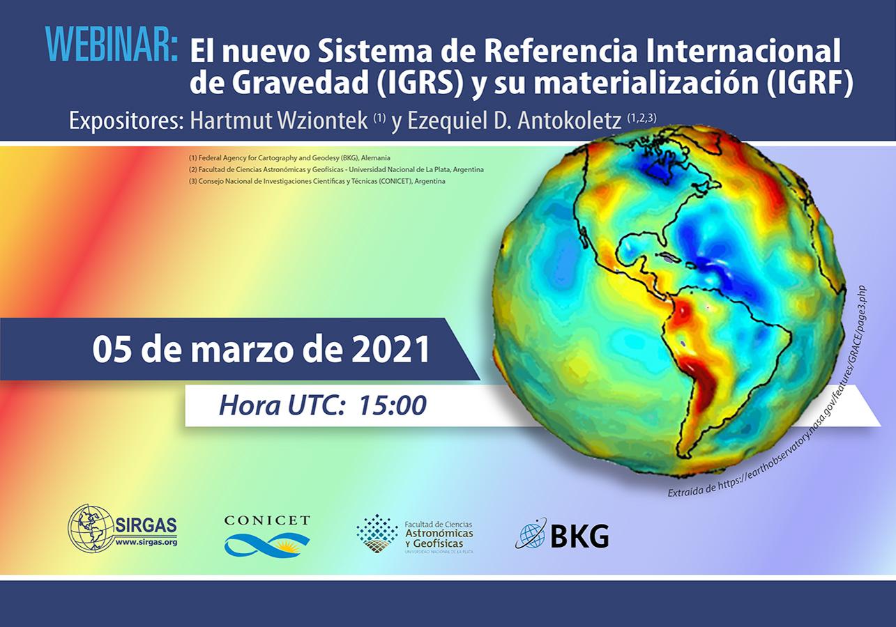 Webinar: O novo Sistema Internacional de Referência da Gravidade (IGRS) e sua materialização (IGRF)