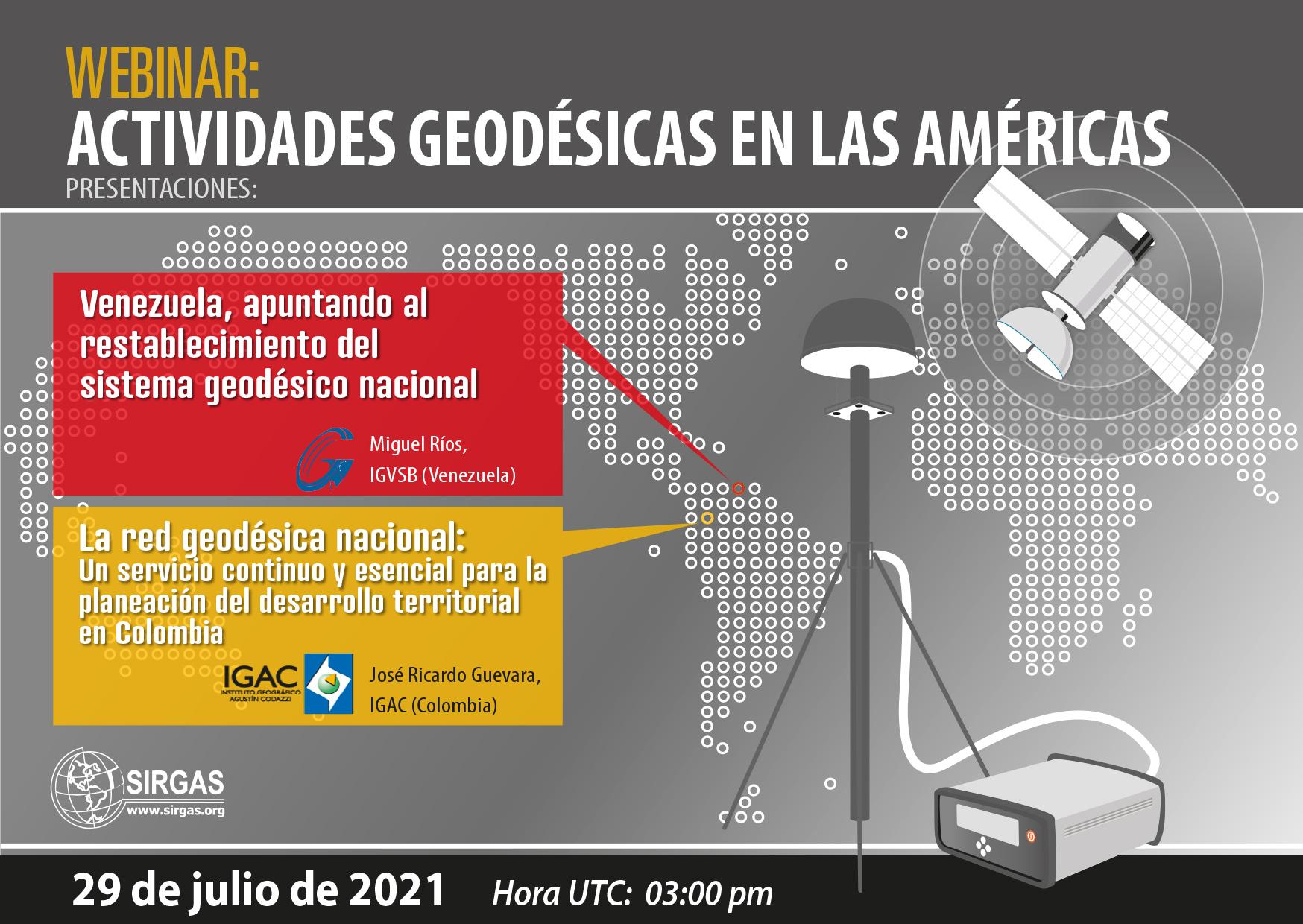 Evento: Atividades Geodésicas nas Américas